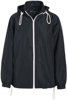 Big Chill Women's Windbreakers and Shell Jackets Black - Black Pack-in-Pocket Windbreaker - Women