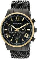 Akribos XXIV Men's Swiss Quartz Stainless Steel Automatic Watch, Black (Model: AK919BKYG)