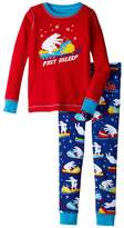 Hatley Polar Bear Snowmobile Waffle PJ Set (Toddler/Little Kids/Big Kids)