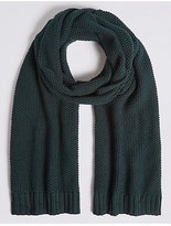 M&s Collection Textured Pure Cotton Knitted Scarf