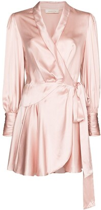Zimmermann Wrap-Style Silk Mini Dress