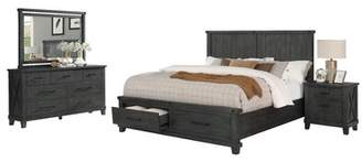 Gracie Oaks Gutshall Platform 4 Piece Bedroom Set Gracie Oaks Bed Size: California King