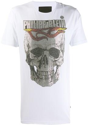 Philipp Plein round neck flame T-shirt