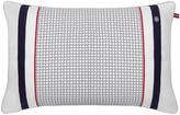 Tommy Hilfiger Navy & White Satin Cushion