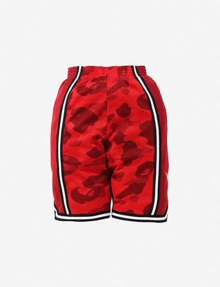 A Bathing Ape Camo Basketball woven shorts 8-10 years
