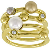 Majorica Four-Band Pearl Ring