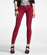Zelda Colored Jean Legging- Ruby Red
