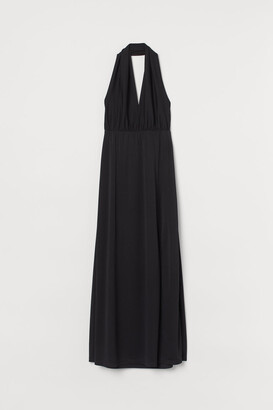 H&M Long Halterneck Dress - Black