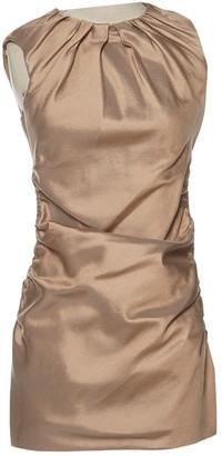 Prada Gold Wool Dresses