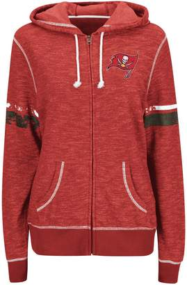 Majestic Women's Red Tampa Bay Buccaneers Athletic Tradition Full-Zip Hoodie