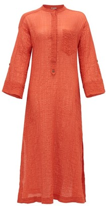 Three Graces London August Cotton-blend Voile Kaftan - Red