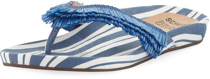 Schutz Capri Striped Thong Sandal