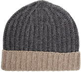 Barneys New York MEN'S RIB-KNIT BEANIE