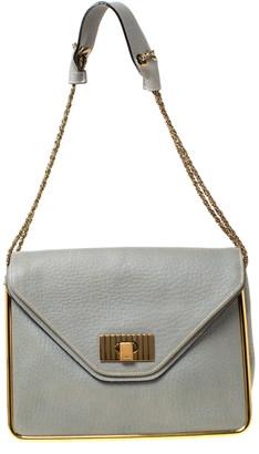 Chloé Grey Leather Sally Medium Shoulder Bag