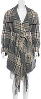 Chloé Wool Plaid Coat