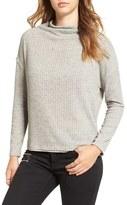 Astr Women's Open Back Rib Cowl Neck Sweater
