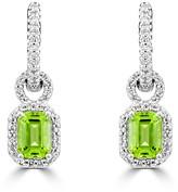 Effy Jewelry Effy 14K White Gold Peridot and Diamond Earrings, 2.30 TCW