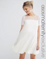 Asos Iridescent Sequin Swing Dress