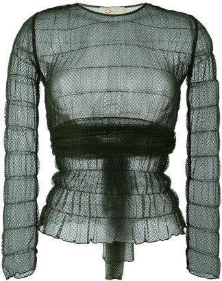 Romeo Gigli Pre Owned Lace Sheer Blouse