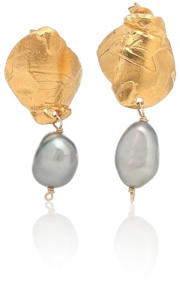 Alighieri The Shadow 24kt gold-plated earrings with pearls