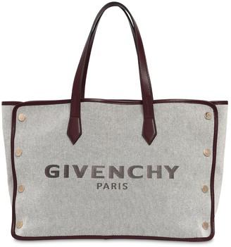 Givenchy Medium Bond Logo Canvas Tote Bag
