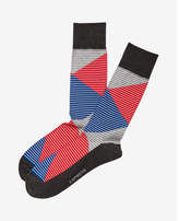 Express color block stripe dress socks