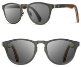 Shwood 'Francis' 49mm Titanium & Wood Sunglasses