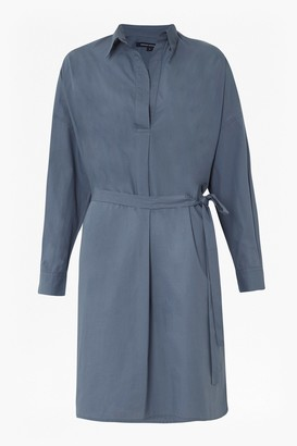 French Connection Rhodes Poplin Belted Shirt Dress