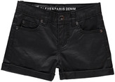 Little Eleven Paris Reline Cotton Coated Shorts