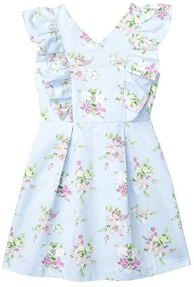 Janie and Jack Sleeveless Floral Dress (Toddler/Little Kids/Big Kids) (Purple) Girl's Dress