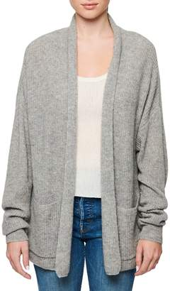 Line Ribbed Open-Front Cashmere Cardigan
