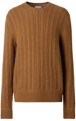 Burberry Cashmere Cable-Knit Sweater