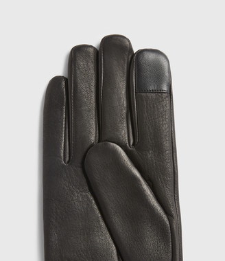AllSaints Vester Leather Cuff Gloves