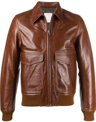 Sandro Paris Flap Pocket Classic Collar Jacket