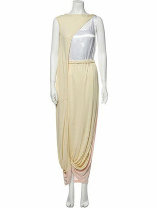 Marni Bateau Neckline Long Dress w/ Tags Yellow