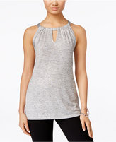 INC International Concepts Petite Shine Halter Tank Top, Only at Macy's