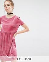 Reclaimed Vintage Smock Dress In Velvet