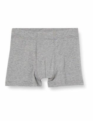 Sanetta Boys Hipshort Doppelpack Fog Twin Pack consisting of Two Plain Colour Hip Shorts Black and in Blue Grey with Sporty Woven Waistband
