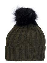 Quiz Khaki Pom Knit Hat