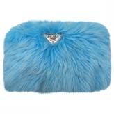 Prada Blue Synthetic Clutch bag