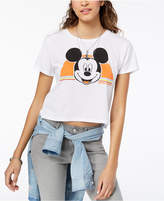 Freeze 24-7 Juniors' Cropped Mickey Mouse T-Shirt