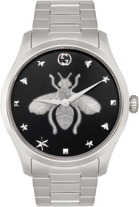 Gucci Silver Bee G-Timeless Watch