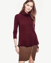 Ann Taylor Petite Cashmere Turtleneck Tunic Sweater