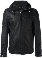 Diesel Black Gold hooded leather jacket