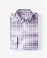 Express slim fit plaid performance dress shirt