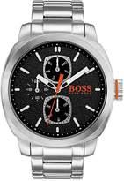 HUGO BOSS Hugo Capetown Black Dial Stainless Steel Bracelet Mens Watch