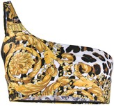Versace Baroque leopard-print bikini top