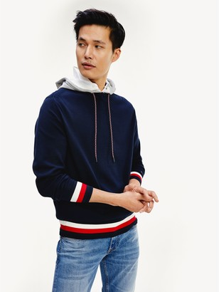 Tommy Hilfiger Relaxed Fit Signature Stripe Hoodie Sweater
