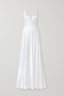 Michael Lo Sordo Alexandra Silk-satin Gown - White