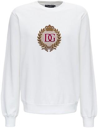 Dolce & Gabbana Crest Embroidered Sweatshirt